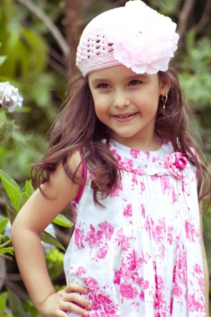 Vestido Flores Rosadas
